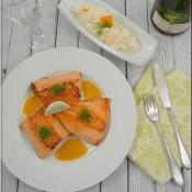 Fenyklový salát s lososovým pstruhem