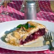 Letní piknik (3.) – třešňový závin s vanilkovou omáčkou