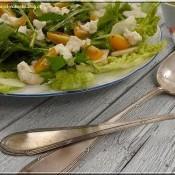 Salát z bedýnky: Rukola, mizuna a kozí sýr