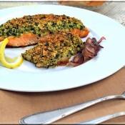Michelinská ryba s bylinkovo-chlebovou krustou