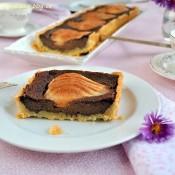 Hruškovo – čokoládový koláč (a švestkový bonus)
