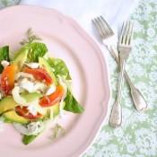 Zimní salát z fenyklu, avokáda a pomeranče