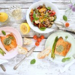 Grilovaná zelenina s rybou...