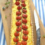 Quiche s rajčaty, sýrem a bylinkami