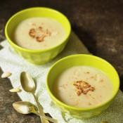 Květáková polévka s mandlemi