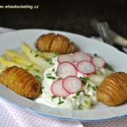 Pečené brambory s chřestem