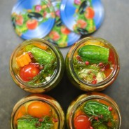 Nakládaná zelenina – barvy léta ve skle