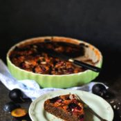 Makový koláč – makovec se švestkami