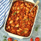Pečené fazole na řecký způsob